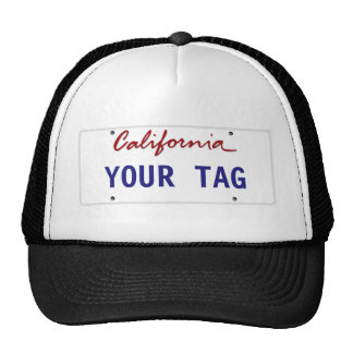 Custom California License Plate Trucker Hat