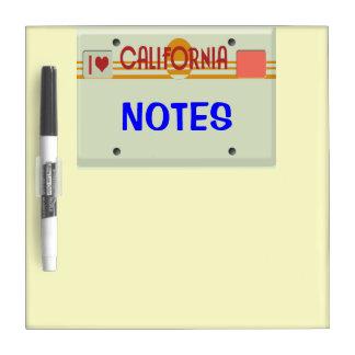 Custom California Plate Dry-Erase Board