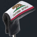 "Custom California Republic flag golf putter cover<br><div class=""desc"">Custom California Republic flag golf putter cover with name monogram letters. Trendy golf club putter head protector gift for friends and family. Stylish golfing gift ideas for him; worlds greatest dad, father, papa, best grandpa, step dad, uncle, grandfather, granddad, golfer, business partner, friend, boss, groom, employee, coworker, partner, husband, coach,...</div>"