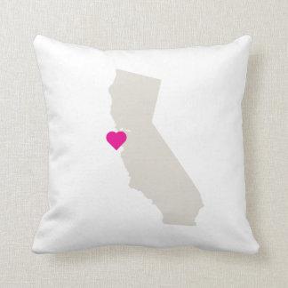 Custom California State Love Reversible Pillow
