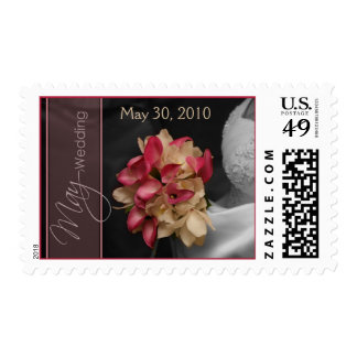 Custom Calla Lilies Spot Color May Wedding Postage