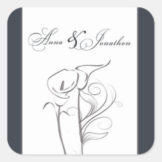 Custom Calla lily Wedding Sticker