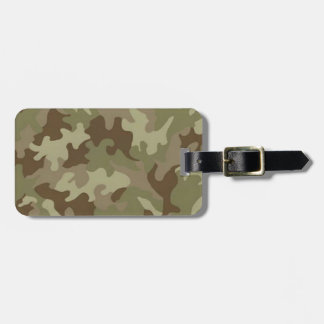 Custom Camouflage Luggage Tag