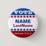 "Custom Campaign Button<br><div class=""desc"">Campaign button template for elections. Makes a great gift for voters,  campaign contributors,  politicians,  volunteers,  memorabilia and more! See more at zazzle.com/CampaignHeadquarters</div>"