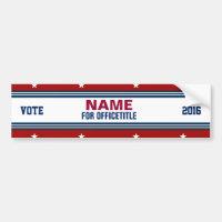 Custom Campaign Political Template Bumper Sticker