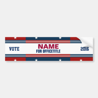 Political Campaign Templates Bumper Stickers Car Stickers Zazzle - Custom vinyl stickers for walls   for your political campaign