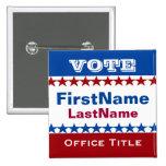 Custom Campaign Template 2 Inch Square Button