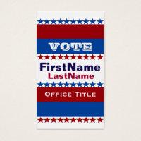 Custom Campaign Template Business Card