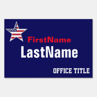 Custom Campaign Template Lawn Sign