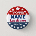 "Custom Campaign Template Pinback Button<br><div class=""desc"">Custom campaign button template for elections. Makes a great gift for voters,  campaign contributors,  politicians,  volunteers,  memorabilia and more! See more at zazzle.com/CampaignHeadquarters or http://CampaignOutlet.com</div>"
