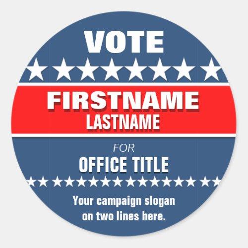 Custom Campaign Template Round Classic Round Sticker