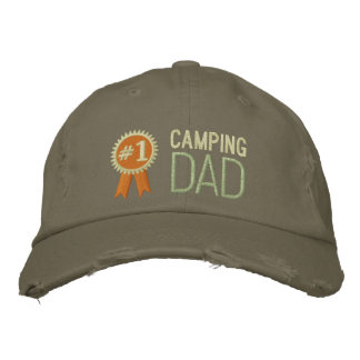 Custom Camping Father's Day / Birthday Dad Embroidered Baseball Caps