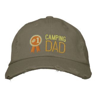 Custom Camping Father's Day / Birthday Dad Embroidered Hats