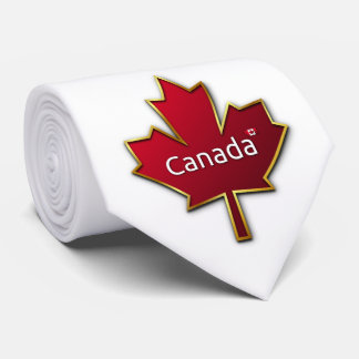 Custom Canada Day Neck Tie
