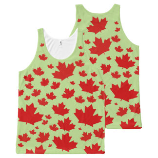 Custom Canada flag oh Canada Green red Maple Leaf All-Over Print Tank Top