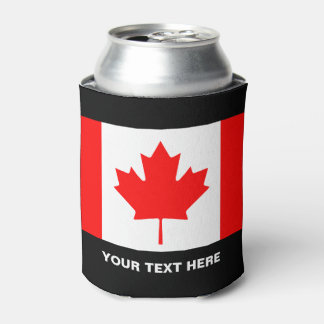 Custom Canadian flag can coolers for Canada Day