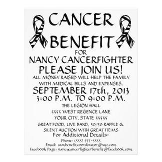 Custom Cancer Benefit Flyer Custom Flyer