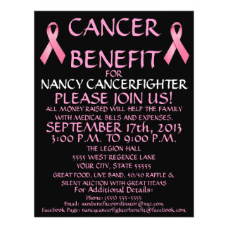 Custom Cancer Benefit Flyer