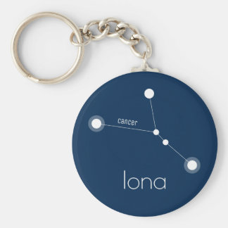 CUSTOM Cancer Zodiac Constellation Keychain
