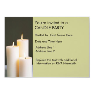 Custom Candle Party Invites