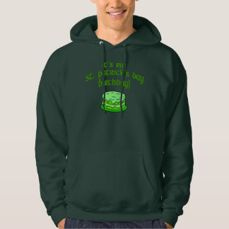 CUSTOM CANDLES ON CAKE ST PATS DAY BIRTHDAY HOODIE