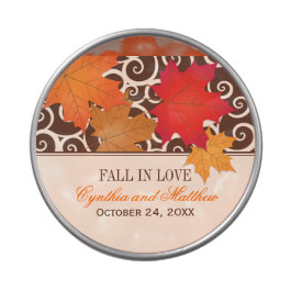Custom Candy Favor Tin | Fall in Love Wedding Jelly Belly Tins