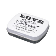 Custom Candy Favor Tin | Love Is Sweet Jelly Belly Tin at Zazzle