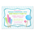 :custom: Candy Shoppe Birthday Party Invite (blue)
