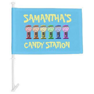 Custom Candy Station Sign Car Flag