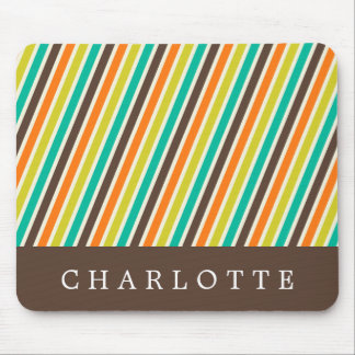 Custom Candy Stripes Mouse Pad
