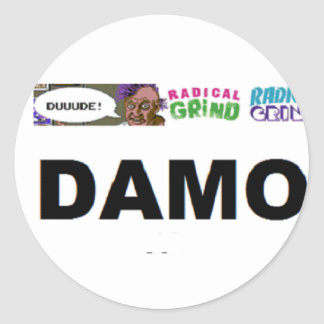 custom canvas shop classic round sticker