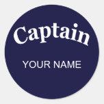 CUSTOM CAPTAIN CLASSIC ROUND STICKER