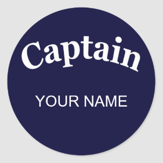 CUSTOM CAPTAIN CLASSIC ROUND STICKER