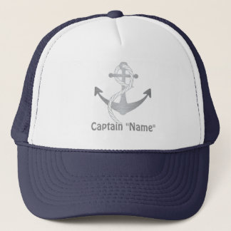 Custom Captain Hat with Silver Anchor