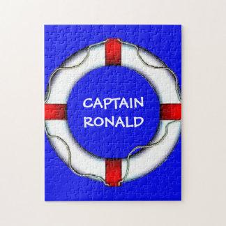 Custom Captain Life Preserver Jigsaw Puzzle