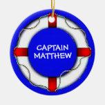 Custom Captain Lifesaver Ornament