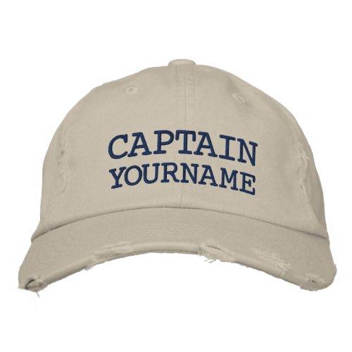 Custom Captain Or Boat Name Embroidered Baseball Hat