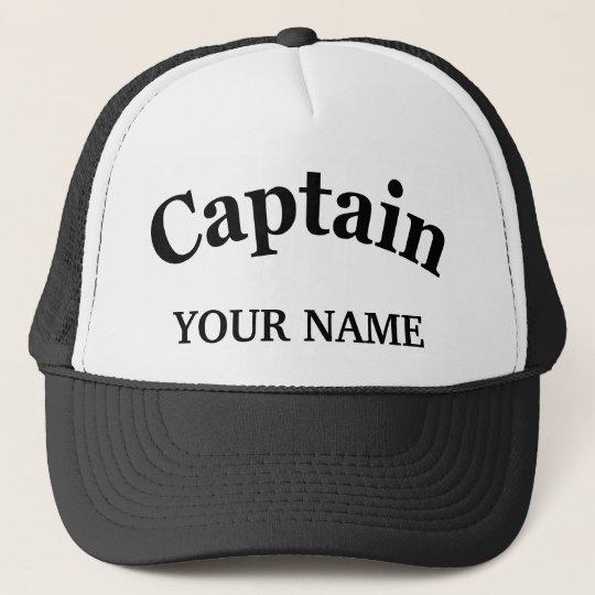 CUSTOM CAPTAIN TRUCKER HAT