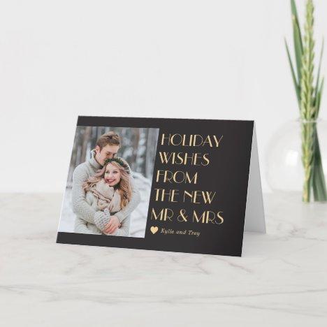 Custom Caption Editable Color Modern Holiday Card