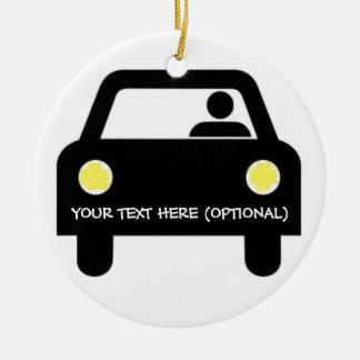 Custom Car and Driver Christmas Ornament