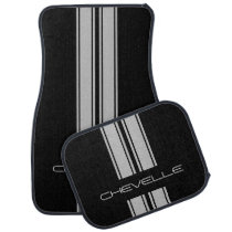 Custom Car Floor Mats - Chevelle Stripes Grey