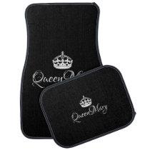 Custom Car Floor Mats - Queen Name