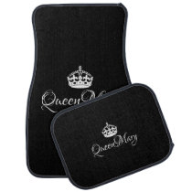 Custom Car Floor Mats - Queen Name