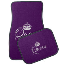Custom Car Floor Mats - Queen Purple