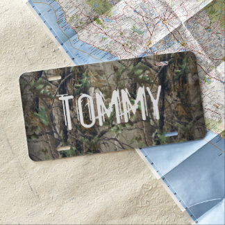 Custom Car License Plate - Hunting Camouflage