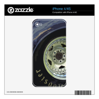 CUSTOM CAR WHEEL DECAL FOR THE iPhone 4