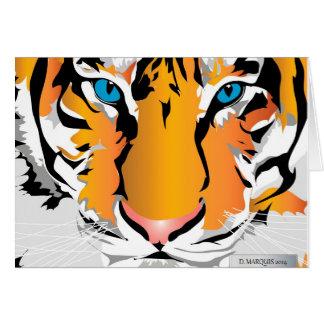 CUSTOM CARD-TIGER-ORANGE GREETING CARD