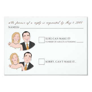 Custom Caricature Smile/Frown Save the Date Cards