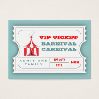 CUSTOM Carnival Admission Ticket