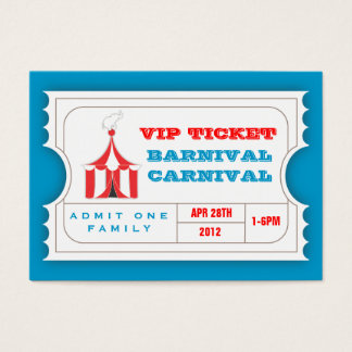 CUSTOM Carnival Admission Ticket BLUE